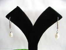 Threader Natural Fine Pearl Earrings