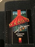 M.A.C.H. 3 Video Arcade Game Instruction Manual, Mylstar 1983