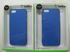 "FREE! Just Pay Freight 2x BELKIN ""Indigo"" Micra Matte Case iPhone5  F8W095qeC03"