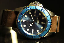 Invicta Mens 50mm Pro Diver Hydromax Brown Leather Strap Watch