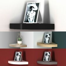 Floating Wooden Wall Mounting Corner Shelf Display Unit MDF shelf Book Storage