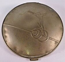 "Art Deco ""Miss Manhattan by Vanstyle"" White Metal Lg Compact Leaping Female Fig."