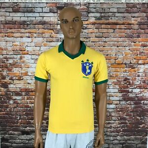 RARE BRAZIL 1980's NATIONAL FOOTBALL TEAM JERSEY CAMPEA SIZE M