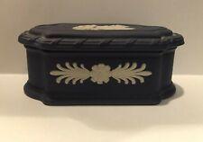 Wedgwood Trinket Box. Lovely Violet shade with white. Unusual shape.