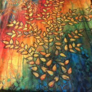 "45"" Remnant Sue Penn Digital Fabric Garden Bright Shine SP001.Multi"