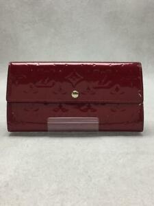 Louis Vuitton Pochette Porto Monky Monogramverni EnamelMonogram  Red Walllet