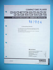 INSTRUCCIONES MANUAL DE SERVICIO PARA YAMAHA cd-x5/ cd-m77/ cd-305/ cd-26/