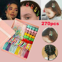 270 x Candy Color Rope Ponytail Holder Hair Accessories For Girls Kids Clips