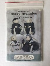 Victorian Baby Bunnies 2 Sizes Bunny Children & Clothes Sew Pattern #137 Easter