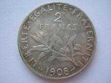 France 1908 silver 2 Francs VF