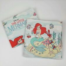 Vintage Disney The Little Mermaid Sheet Set Ariel Full Flat Fitted