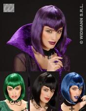 Parrucca Gothic Vamp Verde (vampira) Costumi Travestimenti Carnevale WIDMANN