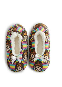 Disney Fancy Nancy Toddler Girls Size 8-13 Fuzzy Babba Slipper Socks New