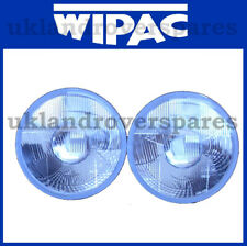 7 Inch Round LHD Quadoptic Headlamps, No Pilot, Halogen Headlight Pair- WIPAC