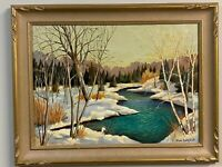 """""""River at Prospect Lake"""" -Original Oil Painting - Canadian Artist Alan Campbell"""