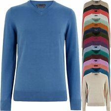 Marks & Spencer Jersey para hombre cuello en V Suéter Tejido M&S Puro Algodón Jersey Nuevo