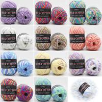 LOTS 23 Colors 50g Milk Cotton Soft Woolen Yarn Knitting Crochet Baby Hats Scarf