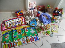 Spielzeugpaket  Kleinkind Spielteppich Holz Kuscheltier Rassel  Werkbank,   (3)