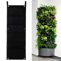 6 Pocket Hanging Vertical Garden Planter Indoor Outdoor Herb Wall-mounted Pots