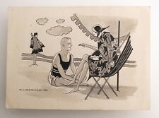 1927 Estonia ART NOUVEAU Original INK Vintage DRAWING  #5