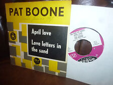 """Pat Boone, April Love, Love letters in sand, (Rock'n'Roll) Holland Single, 7"""" 67"""