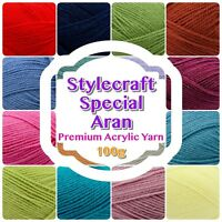 Stylecraft SPECIAL ARAN Weight Premium Acrylic Knit Knitting/ Crochet Yarn Wool