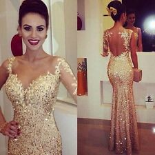 Gold One Shoulder Long Mermaid Pageant Prom Gowns Formal Evening Party Dresses