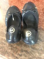 Michael Kors Women's City Black Leather Ballet Flat Size 7.0