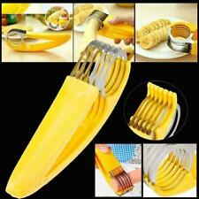 Banana Slicer Fruit Cutter Kitchen Gadget Bar Veggie Cutter Stainless Steel Tool