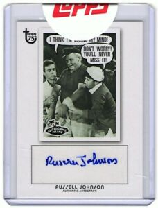 2013 Topps 75th Gilligan's Island Russell Johnson The Professor Autograph Card