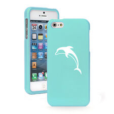 For Apple iPhone 4 4S 5 5S 5c 6 6s Plus Rubber Hard Case Cover Dolphin