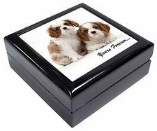 Blenheim King Charles Spaniels Keepsake/Jewellery Box Christmas Gift, AD-SKC9JB