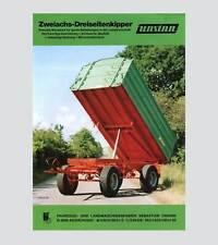 Unsinn Zweiachs-Dreiseitenkipper 6to bis 12to Original 1989
