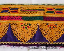 Ethnostoff, Bestickter Folklore Kuchi Nomaden Tribal Stoff, Vintage, Tribal DIY