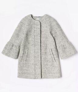 Girls John Lewis Dress Coat Grey Bell Sleeve School Jacket Age 2 to 13 Years New