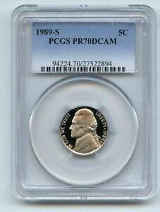 1989 S 5C Jefferson Nickel Proof PCGS PR70DCAM