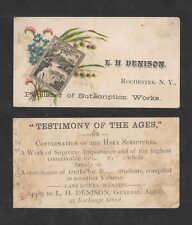 1880s L H DENISON ROCHESTER NY VICTORIAN TRADE CARD