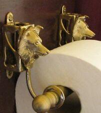 SHELTIE, SHETLAND SHEEPDOG Bronze Toilet Paper Holder OR Paper Towel Holder!