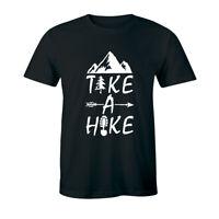 Take A Hike Funny Hiking Hiker Mountain Walk Walker Camp Men's T-shirt Tee