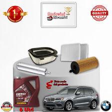 KIT TAGLIANDO FILTRI + OLIO BMW X3 F25 18 D 105KW 143CV DAL 2012 ->
