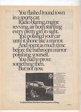 British Leyland Mini Advertisement Removed from a Magazine Mini S