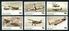 GIBRALTAR 2010 BATTLE OF BRITAIN AIRPLANES - WORLD WAR II MINT COMPLETE SET OF 6