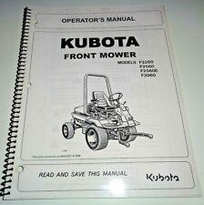 Kubota F2260 F2560 F2560E F3060 Front Mower Operators Owners Manual OEM 4/02