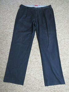 GANT Navy Blue Men's Trousers Chinos W38 L32 Straight Leg Flat Front