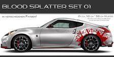 Blood Splatter 01 Auto Folien Aufkleber Set Tuning Blut Spritzer Muster Design