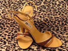 Magnificent Sandal Lori Paris Vintage 70 Pyton Real Brown Yellow New T.38