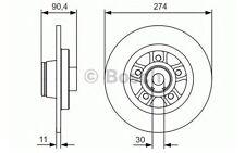 BOSCH Disco de freno (x1) Trasero 274mm RENAULT KANGOO 0 986 479 015