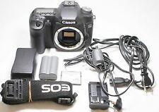 Canon EOS 50D 15.1MP Digital SLR Camera Black Body Only w/ AC Adapter AC-E2