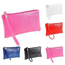 Womens Ladies Crocodile Leather Bags Clutch Handbag Card Coin Mini Wallet Purse