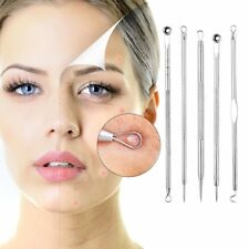 5Pcs Black Spots Remover Acne Extractor Blackhead Remover Kit Cleanser Tools